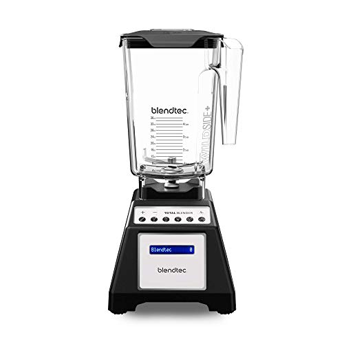 Blendtec Total Classic Original Blender - WildSide+ Jar (90 oz) - Professional-Grade Power - 6 Pre-programmed Cycles - 10-speeds - Black (Certified Refurbished)