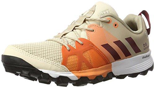 Adidas Kanadia 8 Tr W, Zapatillas de Running para Mujer, Beige (Linen/Collegiate Burgundy/Glow Orange), 36 2/3 EU