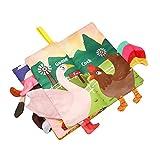 libro de tela para bebés libros suaves para bebés con colas de animales en 3D El primer libro del bebé toca y siente libros arrugados juguetes educativos tempranos regalos para niños pequeños bebés