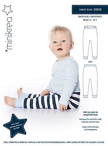 MAGAM-Stoffe Sweat Hose Schnittmuster Babys und Kinder inkl. Aufnäher Enno