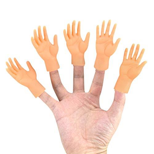 Gobesty Tiny Hands, 10 Stück Kleine Hände Fingerpuppen Linke und Rechte Hand Zaubertricks für Familie Freund Spiele Party