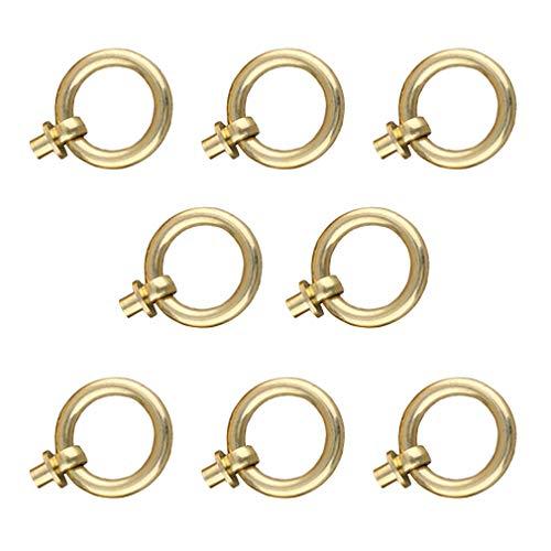 Tiazza 8 Stück Antik Messing Ringgriff für Küchenschränke, Schrank, Schubladen, Möbel, Retro-Stil, kleiner Zugring
