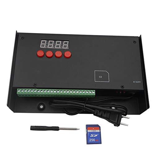 NZYMD Programmierbar LED Steuerung DC110 / 220V Multifunktional Dimmer Controller 3 Kanäle Farbe einstellbar mit SD Stütz Punkt/Linie/Flächenlichtquelle kompatibel WS2811 LPD 6812 TM1803