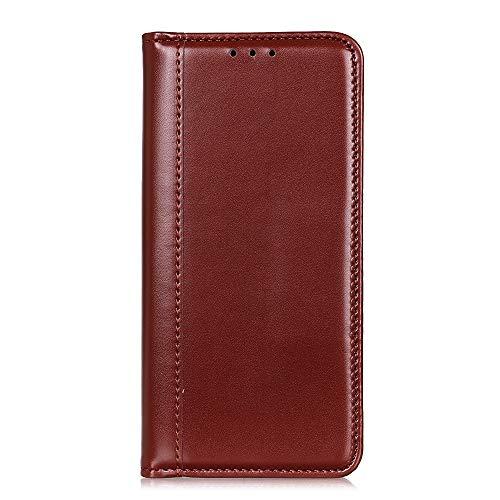 ケース 対応機種「 Redmi Note 10 Pro 」 [KAIDON] [モデル番号: C3-007] 良質PUレザー マグネット開閉 カード収納 手帳型ケース カバー (褐色)