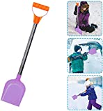 Kids Snow Shovel - Perfect Sized Snow Shovel for Kids Age 3 to 12 - Safer Than Metal Snow Shovels- Extra Strength Plastic Sand Shovel Bend Proof Design for Snow Removal (Purple)