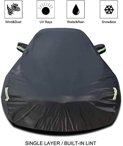 Cubierta del coche compatible con Nissan 350Z coche cubierta del coche lona All Weather lluvia protector solar a prueba de viento a prueba de polvo al aire libre cubierta Escudo de coches (Tamaño, inc