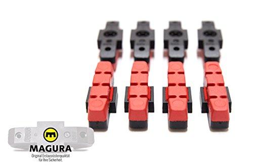 8 Stück MAGURA Original Bremsbelag hydraulische Felgenbremse HS11 22 24 33 66 rot