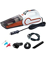 AllExtreme AE-Q8801D 4 in 1 Multifunctional Portable Handheld Car Vacuum Cleaner with Analog Tyre Inflator
