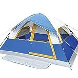 ZXF Carpa Doble al Aire Libre Wild Camping Pareja a Prueba de Viento de una Sola Capa Wigwam Cabina de Picnic al Aire Libre Tents Color : Blue