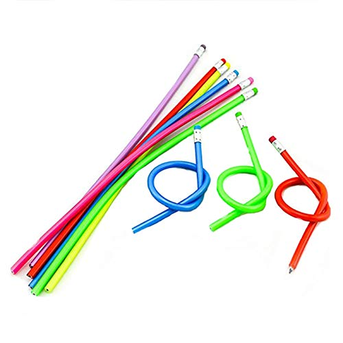 30 Pcs Colorful Flexible Pencils Magic Bendy Soft Pencil with Eraser Writing Gift for Kids Children School Fun Equipment