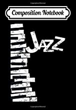 Composition Notebook: Jazz Music Lover - Vintage Piano Jazz, Journal 6 x 9, 100 Page Blank Lined Paperback Journal/Notebook