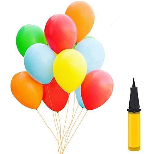 Luftballons Bunt 100 Stueck, Helium Luftballons, Pumpe Luftballons Bunte Ballons Dekorationen für Party Geburtstags Kindergeburtstag Hochzeit Party Deko (100 Stück)