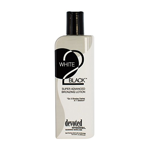 Devoted Creations White 2 Black Supre Advanced Bronzer Tanning Lotion,...