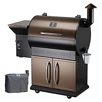 Z GRILLS ZPG-700D Wood Pellet Grill Smoker for Outdoor Cooking with Cover 2021 Upgrade 8-in-1 & Pid Controller