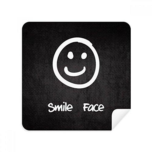 DIYthinker glimlach wit schattig Chat Emoji patroon bril schoonmaken doek telefoon scherm reiniger Suede stof 2 Stks