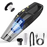 Copoki Handheld Vacuum Cleaner Cordless, Portable Vacuum Cleaner, Powerful Suction 7000PA/2000mA Handheld Hoover with LED Lighting for Car/Home (Lightweight, Wet&Dry, 25min Working, 2.5h Charging)