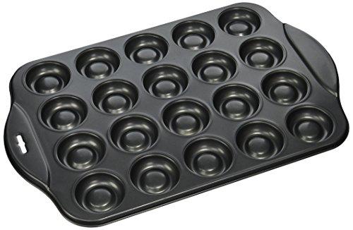 Norpro, Teglia con stampini per 20 biscotti ripieni, Nero (Black)