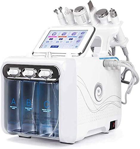 Hydro dermabrasion machine de soins de la peau Beauté, 6 en 1 oxygène de l'hydrogène de petites bulles de gestion de la peau Portable petites bulles Instrument de beauté