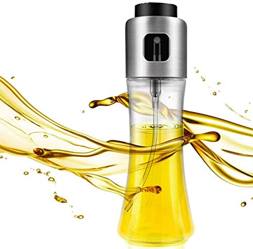 DENSITY COLLECTION Oil Sprayer Dispenser,Olive Oil Sprayer, Spray Bottle for Oil Versatile Glass Spray Olive Oil Bottle for Cooking,Vinegar Bottle Glass,for Cooking,Baking,Roasting,Grilling
