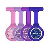 Nurse Watch,Nurse Watch Clip On,Nursing Watch,Clip Watches, Watch with Second Hand,Nurse Watch Nurse Gifts (Purple to Blue)