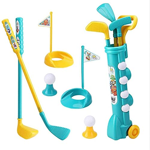 NGLSCXR Mini Golf Juego Juguete Juegue Juego de Golf Infantiles DDDler Golf Set Baby Toddler Club de Golf Juegos de jardín para niños, Incluyendo Pelotas de Golf y Clubes para niños, niños y niñas de