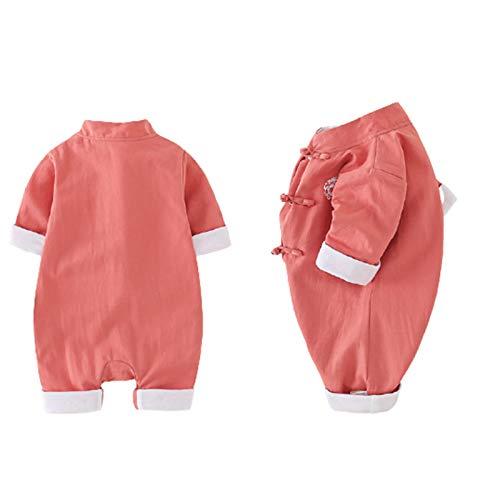 Pijamas para bebé Mamelucos de una Pieza Unisex niña niño Salir recién Nacido Manga Larga Primavera y otoño Mono para niños de algodón Traje de 0-3 Meses en Ropa,A,90cm