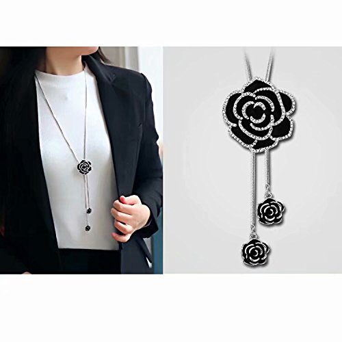 LINSUNG セーター ネックレス ペンダント ラリエット風 ロングキュート セレブ ファッション 小物 ギフト プレゼント