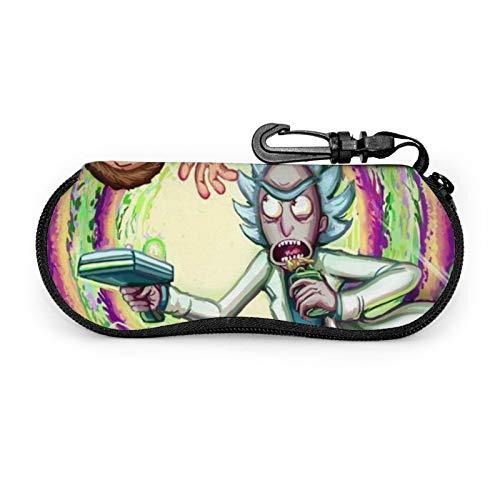 Rick&Morty - Funda para gafas de sol, soporte para gafas de sol, portátil con clip para niñas y mujeres