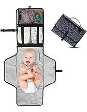 Cambiador Portátil de Pañales para Bebé - Kit Cambiador de Viaje - Completamente Acolchado - Esterilla Lavable de Quita y Pon - Para Usar Fuera y en la Casa - Perfecto como Regalo