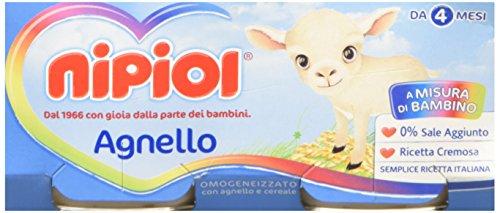 Nipiol Omogeneizzato Carne, Agnello - 24 Vasetti da 80 gr