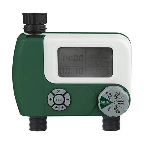 Temporizador de Riego Automático Sistema de riego de riego automático de temporizador de grifo de la manguera del controlador programable digital inteligente de riego Temporizador con 2 Outlet