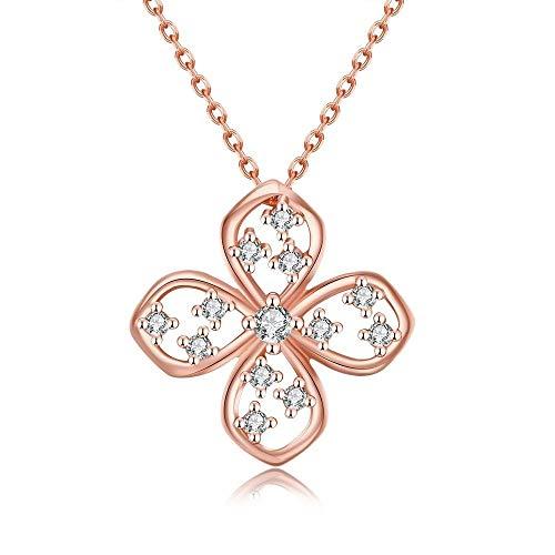 LXDxl Collar Planta Collar de Cadena de Cable de Cobre romántico Colgante...