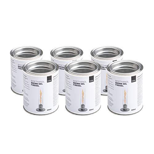 höfats - Spin 6X Bioethanol Dose mit Brenngel - Set mit 6 Dosen - Zubehör für Spin…