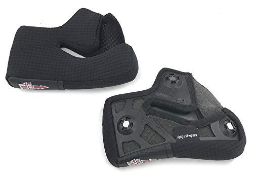 BELL Race/Pro Star Cheekpads Triple Density Street Motorcycle Helmet Accessories - Black / 25MM