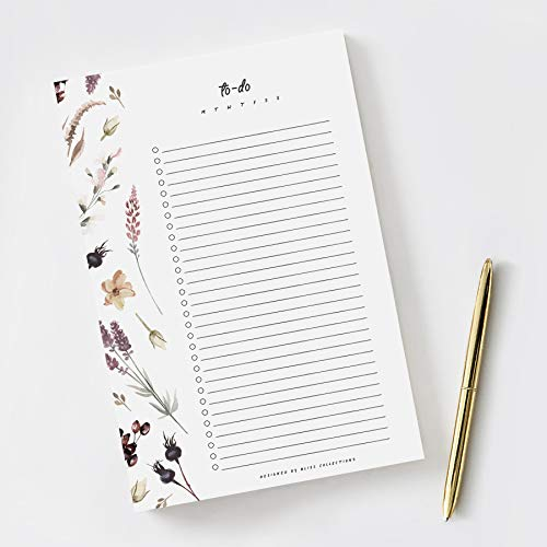 Bliss Collections To Do List Notepad with 50 Tear-Off Sheets, 6 x 9 Shade Garden Motivational Checklist for Organizing and Tracking Life Goals, Habits, Achievements, Reminders, Priorities and Notes