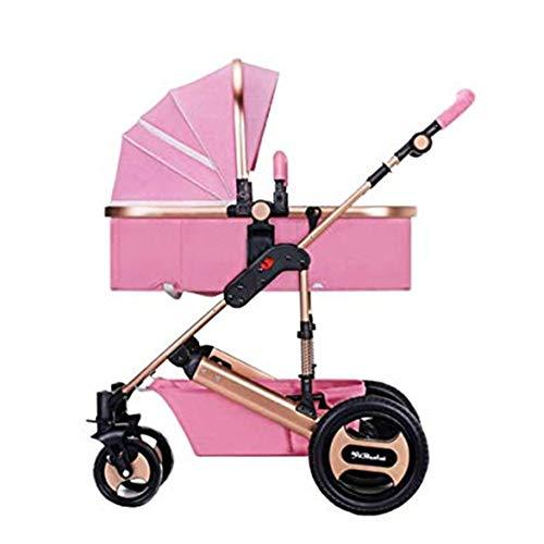 Best Buy! ETERLY Baby Stroller High Landscape Can Sit Reclining Light Two-Way Sleeping Basket Foldin...