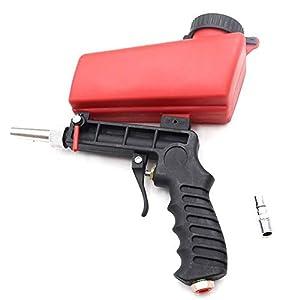 Panthem Pistola de chorro de arena neumática, pequeña herramienta de chorro de arena portátil, pistola neumática, kit de pistola de chorro de arena, máquina de chorro abrasivo