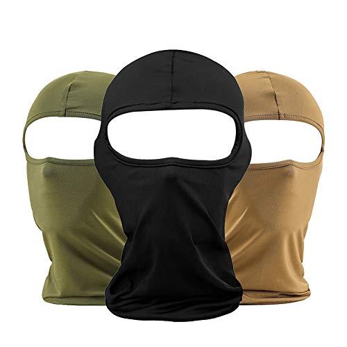 LOESUNGLTD bivakmuts Balaclava voor dames en heren | skimasker in camouflage (olijf), zand of zwart | ideaal als stormmasker bij ski's in de winter of voor motorfiets