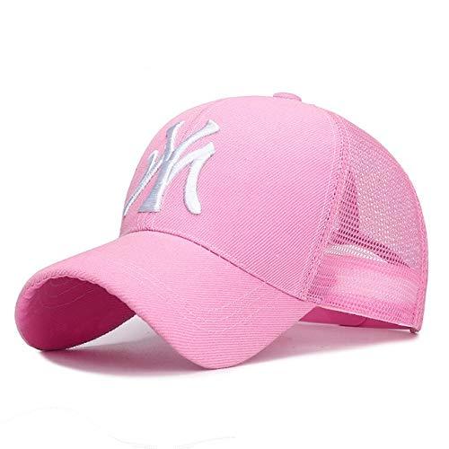 Gorra de béisbol Deportiva al Aire Libre, Letras de Moda de Primavera y Verano Bordadas, Gorras Ajustables para Hombres y Mujeres, Gorra de Moda Hip Hop-Net Pink-Adjustable