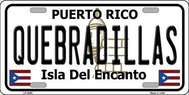 Bargain World Quebradillas Puerto Rico Metal Novelty License Plate (With Sticky Notes)