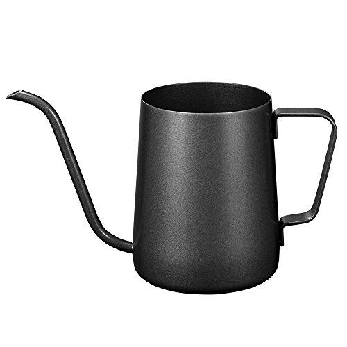 Kslong コーヒーポットコーヒー ケトルステンレス 細口ハンドパンチポットドリップih対応長い口ポット ファ...