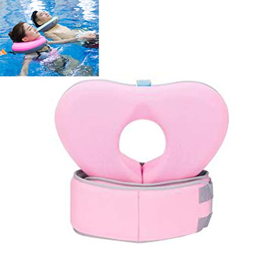 Yorimi - Set di cintura da nuoto con collare galleggiante per bambini, per adulti, senza bisogno di pompa