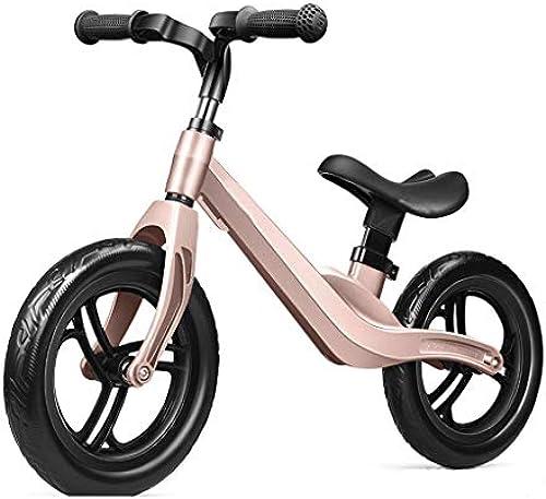 DBGBZM Mitwachsendes Kinder Laufrad Laufürnrad Kinderrad Magnesiumlegierung Kinder Laufrad Lernlaufrad für Jungen und mädchen für ab 2-5 Jahre Rosa