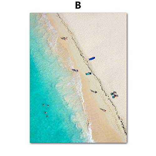 baodanla No Frame dada, Spiaggia Iceberg Albero Ragazza Paesaggio di Olio, Stampa Soggiorno, corridoio Ristorante sfondo60x90cm