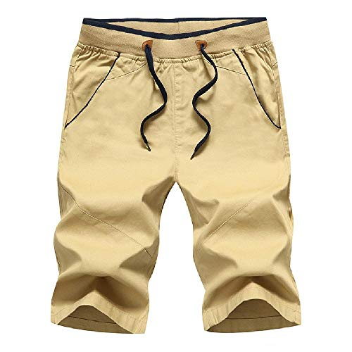 Preisvergleich Produktbild 2020 Sommer Herren Shorts Pure Cotton Solid Casual Pants Slim Fit Schnürshorts