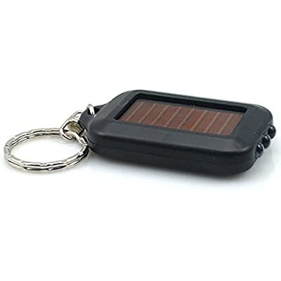Mini Portable Solar Power 3 LED Light Lamp Keychain Torch Flashlight Keyring - Hearsbeauty