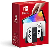 Nintendo Switch 64GB OLED Console with White Joy-Con Controllers