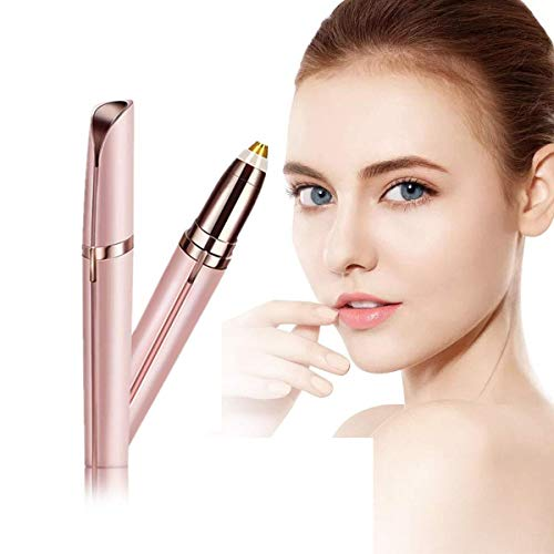 YUKAKI Eléctrica Depiladora Cejas, Eyebrows Trimmer, Ceja Recortador, Depiladora Facia para Mujer(Rosa)