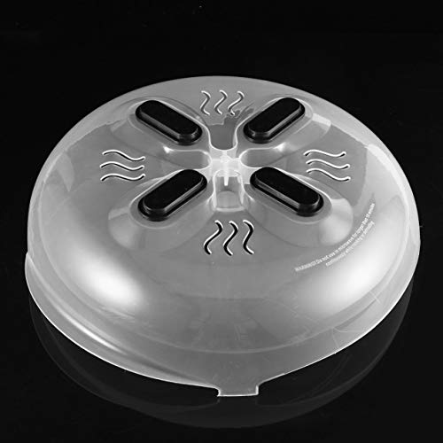 IronHeel Praktischer Magnet Spritzschutz für Lebensmittel Mikrowellen-Schwebeflug Anti-Sputter-Abdeckung Dampfentlüfter Spritzschutzdeckel hitzebeständig - Durchsichtig