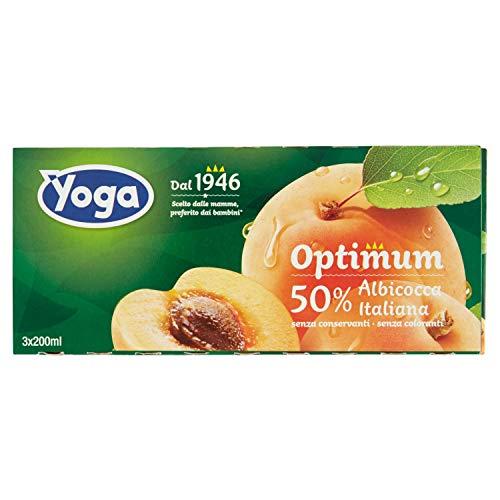 Yoga - Optimum Succo Albicocca, 3 x 200 ml - 600 ml